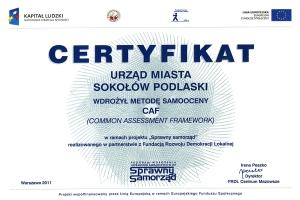 Certyfikat CAF