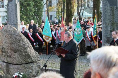 Przemówienie Burmistrza pod pomnikiem Czynu Niepodległościowego