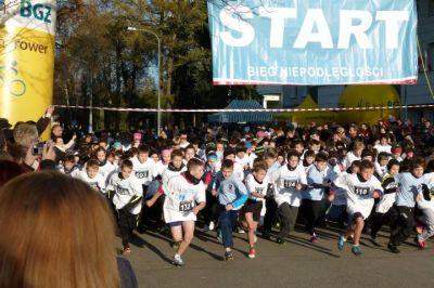 Uczestnicy biegu podczas startu