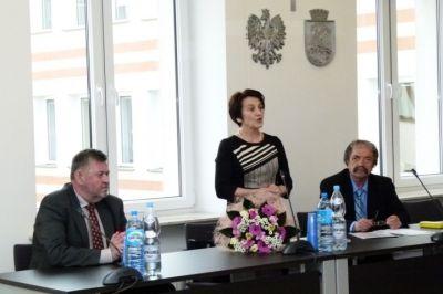 Stanisława Prządka na spotkaniu w Urzędzie Miasta