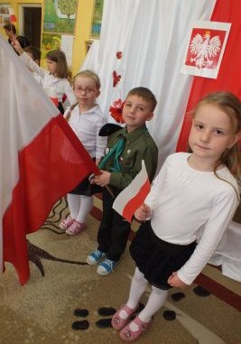 Przedszkolaki na lekcji patriotyzmu