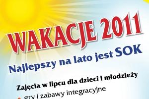 Plakat promocyjny Wakacje 2011