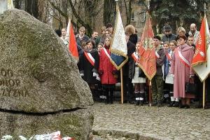 Uroczystości pod pomnikiem Czynu Niepodległościowego