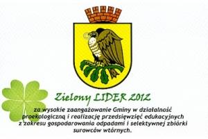 Certyfikat Zielony Lider 2012