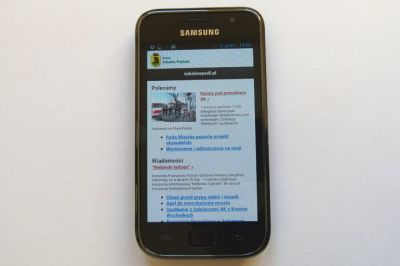 Wersja mobilna serwisu miejskiego