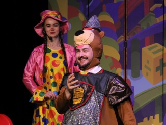 Artyści podczas spektaklu
