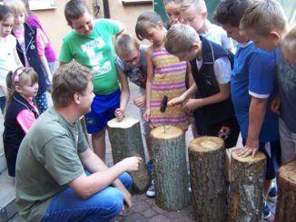 Uczniowie podczas zajęć