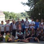 Uczniowie podczas wyjazdu