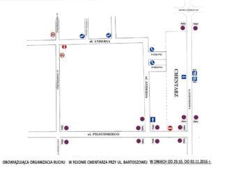 Mapa ze zmianami w organizacji ruchu