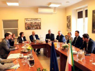 Delegacja z Czerwionki-Leszczyn w Urzędzie Miasta