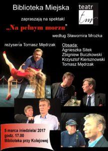 """foto: Spektakl """"Na pełnym morzu"""" w MBP - Plakat teatr TM 215x300"""