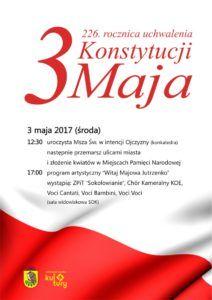foto: 226. rocznica uchwalenia Konstytucji 3 Maja - 3 maja 212x300