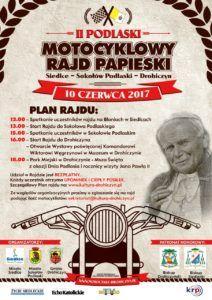 foto: II Podlaski Motocyklowy Rajd Papieski - rajd plakat 212x300