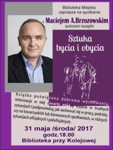 foto: Spotkanie z Maciejem Brzozowskim w MBP - Brzozowski plakat 227x300