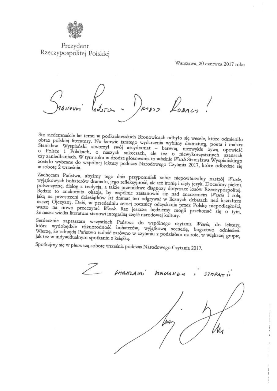 foto: List Prezydenta Rzeczypospolitej Polskiej - 1158 002
