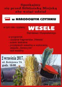 """foto: Narodowe Czytanie 2017: """"Wesele"""" - plakat Narodowe Czytanie 213x300"""