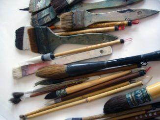 Artyści podczas pleneru