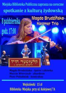foto: Spotkanie z kulturą żydowską w MBP - Plakat kultura zydowska informacja 215x300