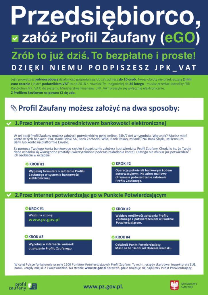 foto: Przedsiębiorco, załóż Profil Zaufany - Plakat Profil Zaufany 724x1024