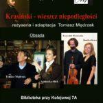 foto: Krasiński - wieszcz niepodległości w Miejskiej Bibliotece Publicznej - Krasiński plakat 150x150