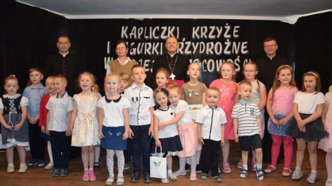Przedszkolaki na wręczeniu nagród