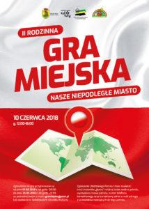 foto: II Rodzinna Gra Miejska - Plakat 2. Rodzinna Gra Miejska 2018 214x300
