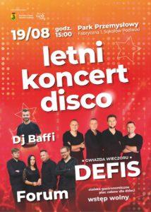 """foto: 19 sierpnia kolejna edycja """"Letniego Koncertu Disco"""" - plakat 214x300"""