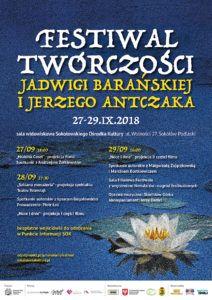 foto: Festiwal twórczości J. Barańskiej i J. Antczaka - plakat festiwal baranska 212x300