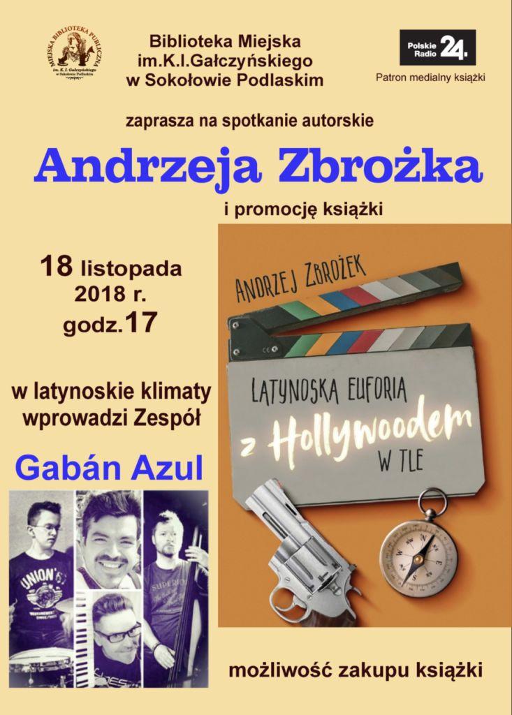 foto: Spotkanie autorskie z Andrzejem Zbrożkiem - Plakat Andrzej Zbrożek 733x1024