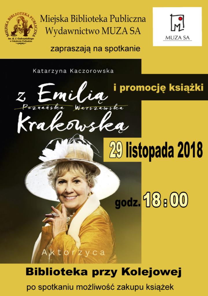 foto: Spotkanie z Emilią Krakowską w MBP - plakat Emilia krakowska 719x1024