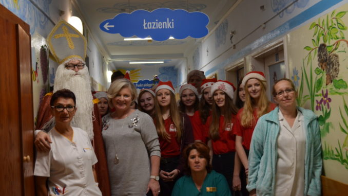 Święty Mikołaj w szpitalu