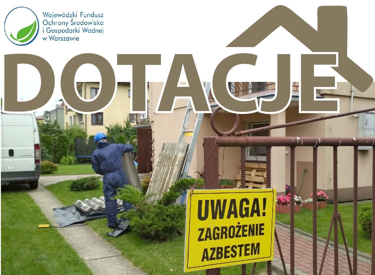 foto: Plakat promocyjny - dotacje azbest