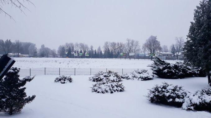Sokołowski stadion zimą