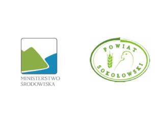 Logo Ministerstwo Środowiska i Powiat Sokołowski
