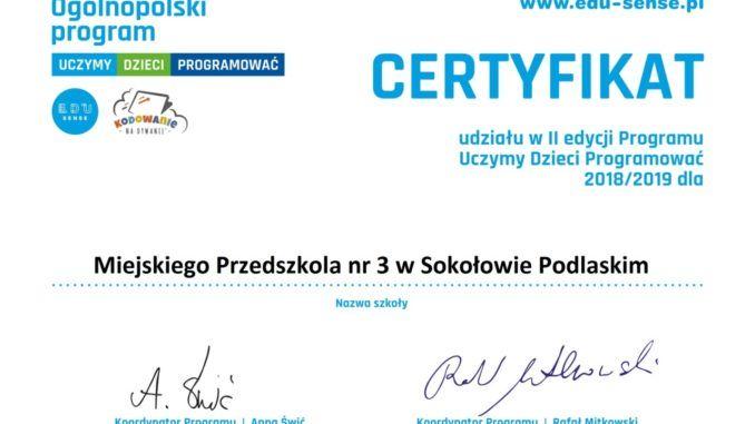 Certyfikat za naukę programowania