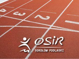 Bieżnia z logo OSiR