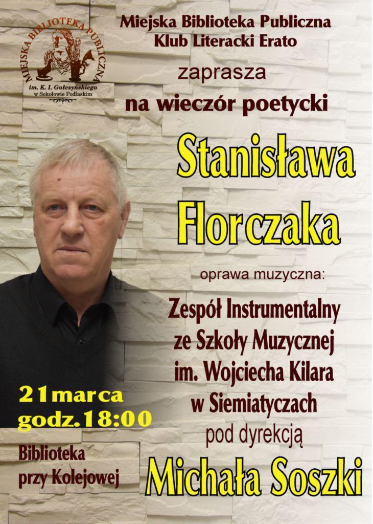 foto: Wieczór poetycki Stanisława Florczaka - Florczak plakat4 730x1024
