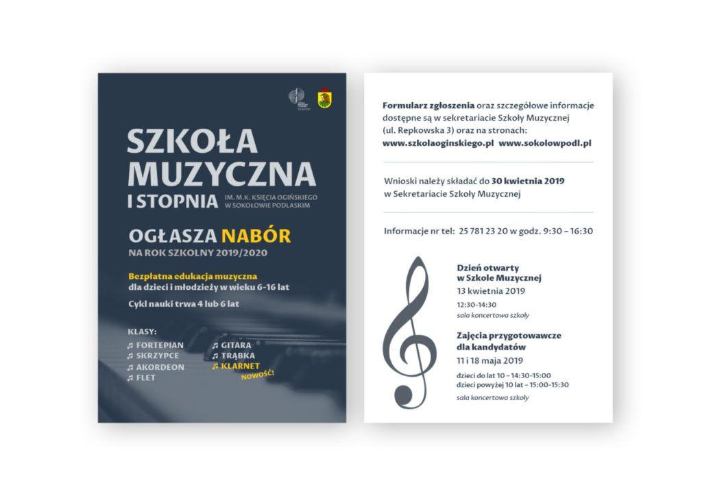 foto: Nabór do Szkoły Muzycznej I st. w Sokołowie Podlaskim - ulotka a6 1024x724