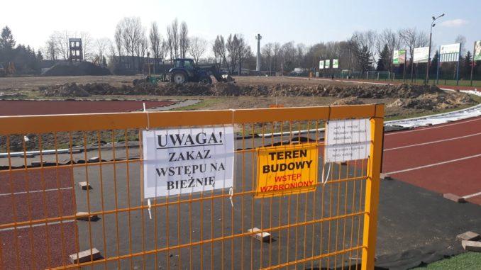 Prace remontowe na stadionie