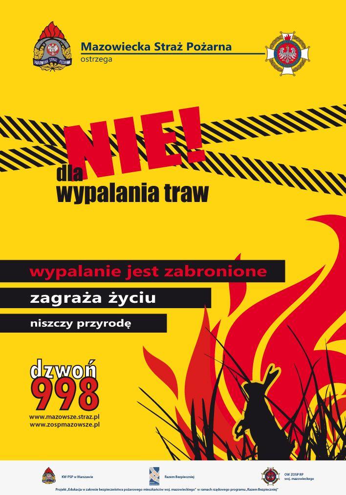 foto: Plakat promocyjny - NIE dla wypalania traw plakat wer. 1.1124930 7