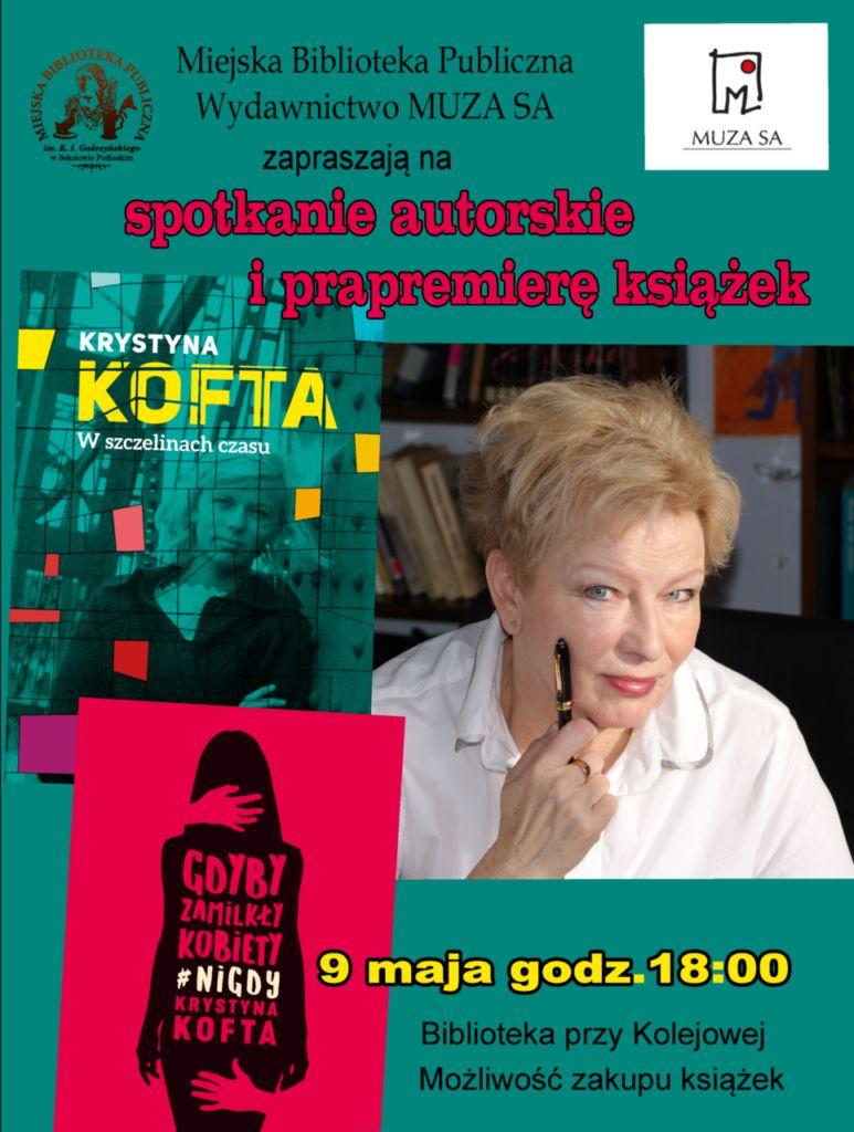 foto: Spotkanie autorskie i prapremiera książek Krystyny Kofty w MBP - Plakat Kofta 773x1024