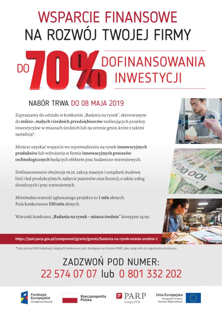 """foto: Konkurs """"Badania na rynek"""" – miasta średnie - wsparcie finansowe 1 724x1024"""