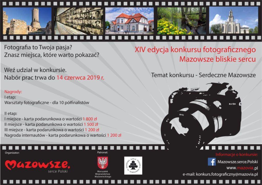 """foto: Przed nami już XIV edycja konkursu fotograficznego """"Mazowsze bliskie sercu"""" - plakat 1024x724"""