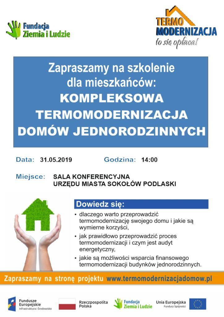 """foto: Seminarium dla Mieszkańców """"Kompleksowa Termomodernizacja domów jednorodzinnych"""" - plakat termomodernizacja 1 724x1024"""