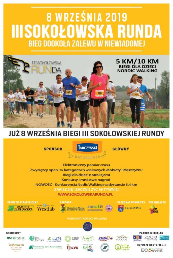 foto: Sokołowska RUNDa już po raz trzeci! - Plakat A3 Sokołowska 3 687x1024
