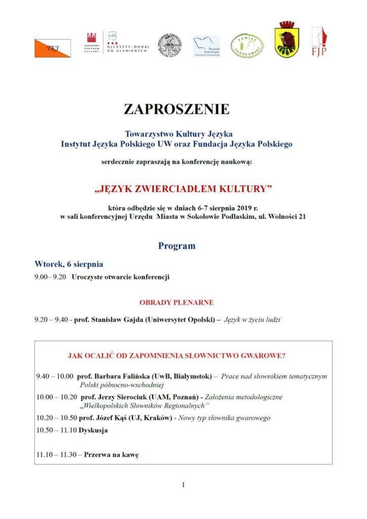 foto: Konferencja naukowa w Sokołowie Podlaskim - zaproszenie I 724x1024