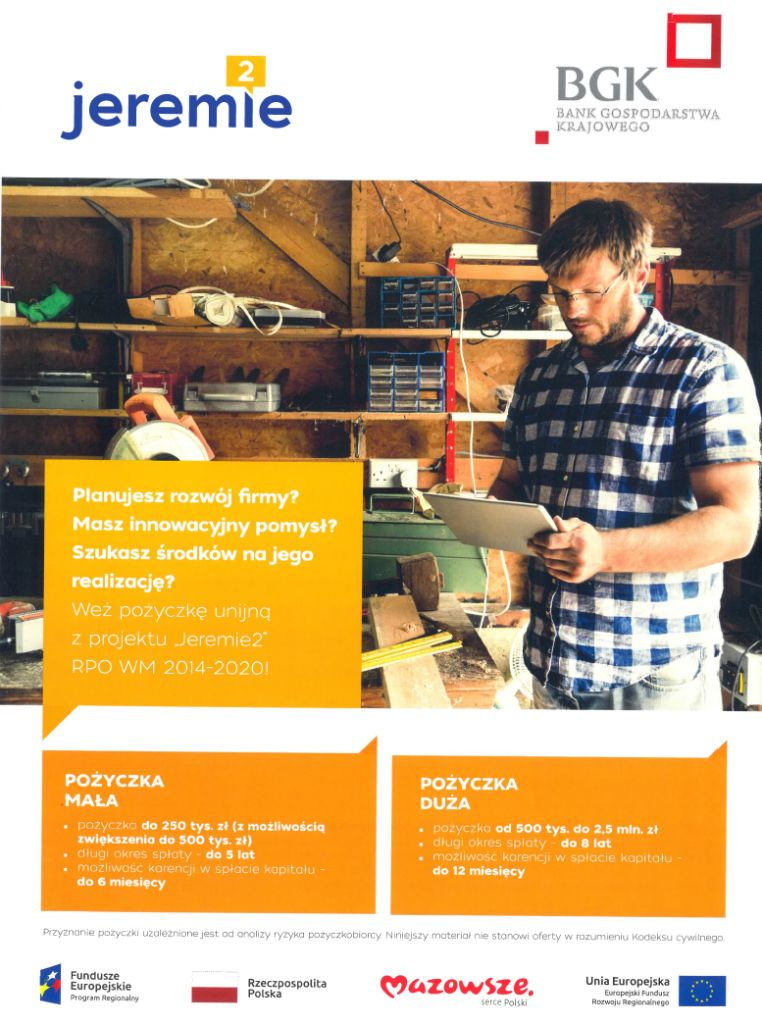 foto: Niskooprocentowane pożyczki unijne dla MŚP oraz Start-upów - bgk msp plakat 1 762x1024