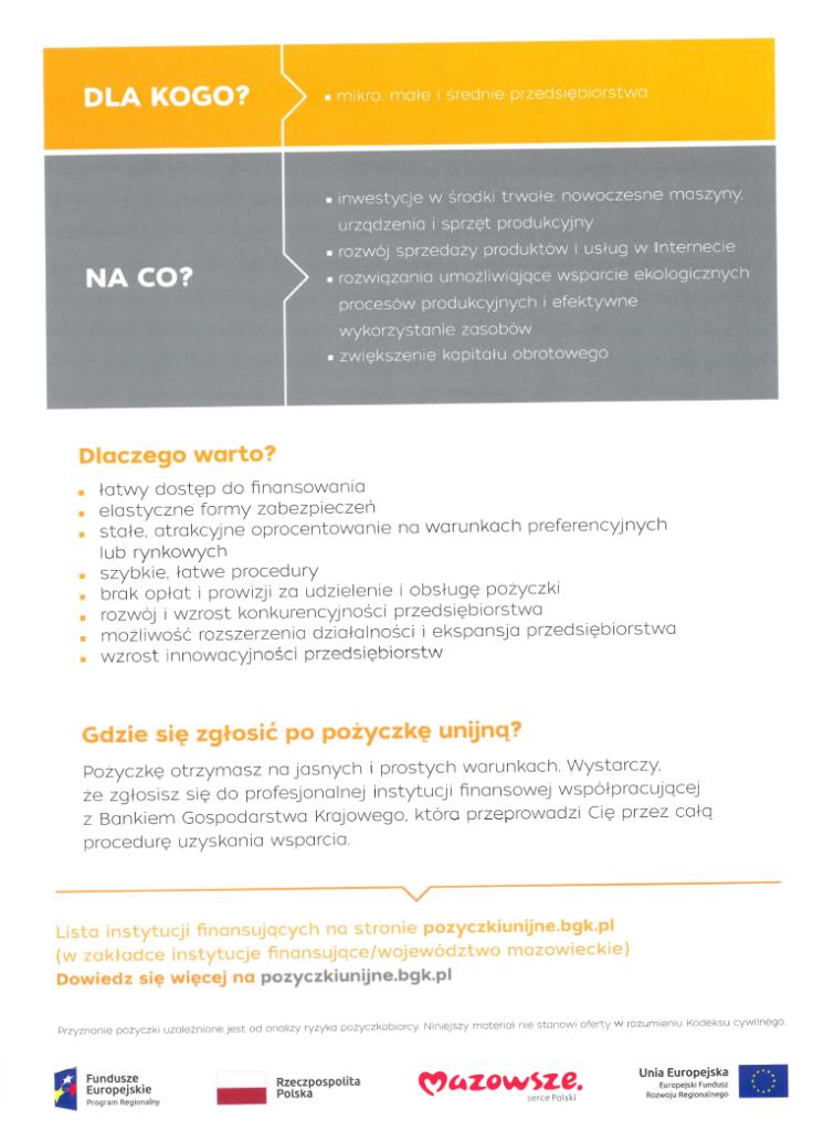 foto: Niskooprocentowane pożyczki unijne dla MŚP oraz Start-upów - bgk msp plakat 2 736x1024