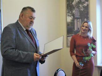 Nauczyciele podczas spotkania z Burmistrzem