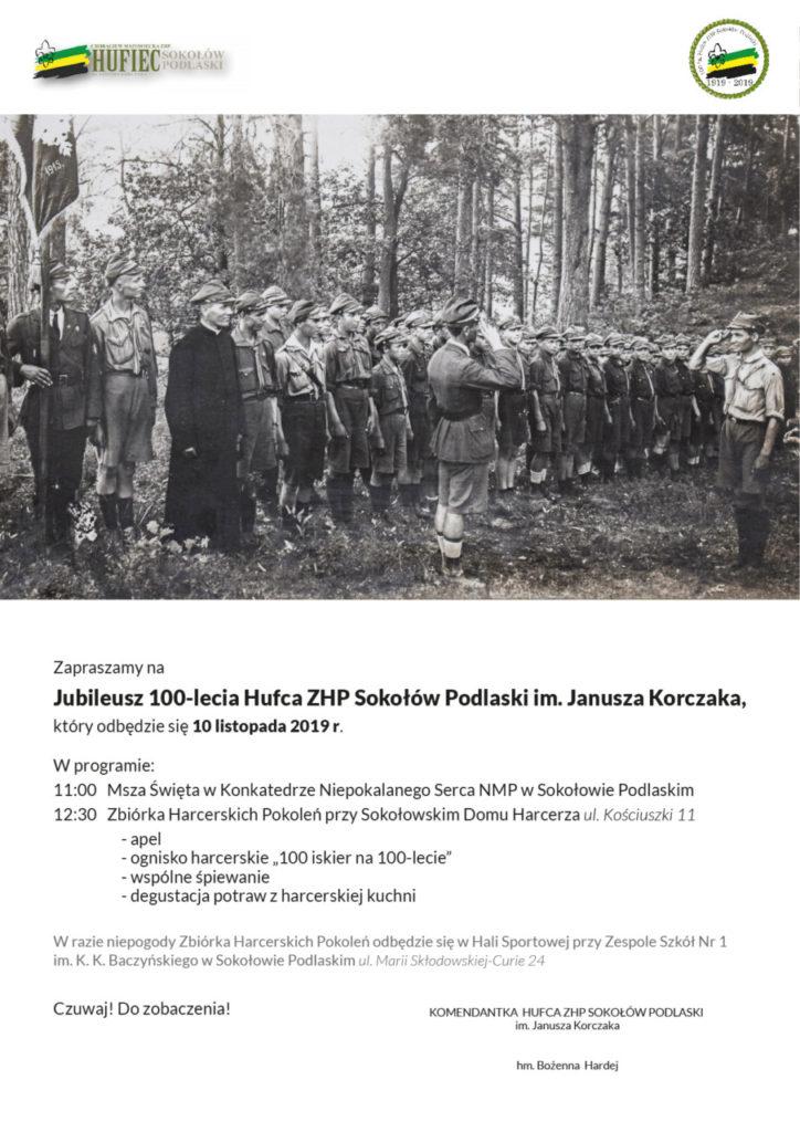 foto: 100-lecie HUFCA ZHP Sokołów Podlaski - 100 lecie 724x1024
